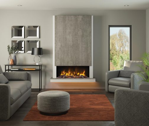Electric Fire PRYZM CAMINO TIMBER inchCHIMNEY BREAST ASH 53