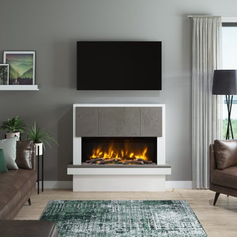 CASELLI PRYZM Electric Fireplace suite
