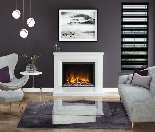 ARANA PRYZM Electric Fireplace suite