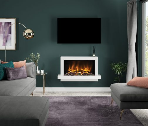 HUXTON PRYZM Electric Fireplace Suite