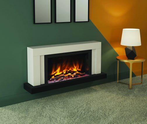 VARDO PRYZM Electric Fireplace Suite