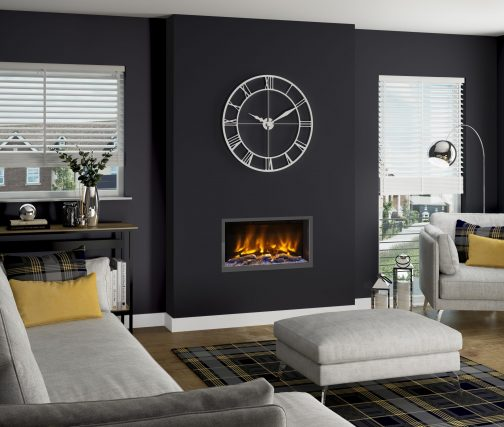 PRYZM VOLTA 750 BLACK NICKEL Electric Fireplace Suite