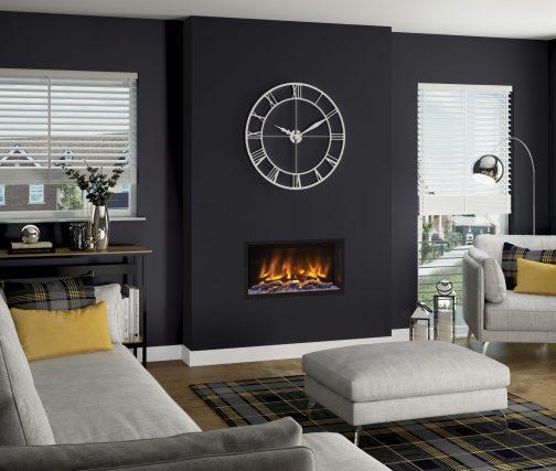 PRYZM VOLTA 750 MATT BLACK Electric Fireplace Suite