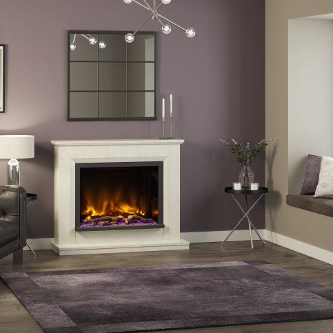 ALESSO Floorstanding Electric Fireplace Suite