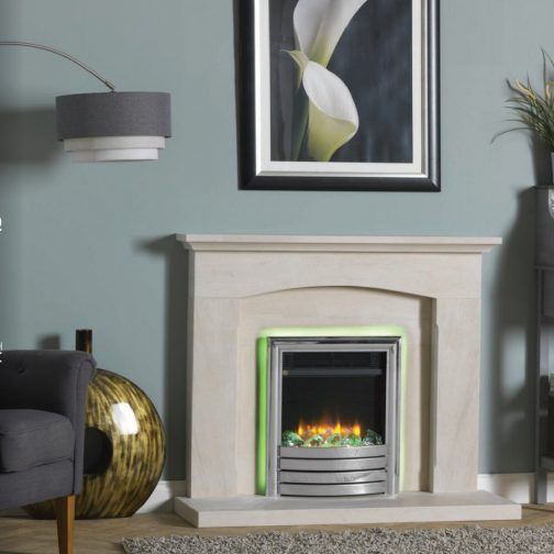 """Infinity 4D Ecoflame 16"""" Inset Electric Fire With All Chrome Fascia"""