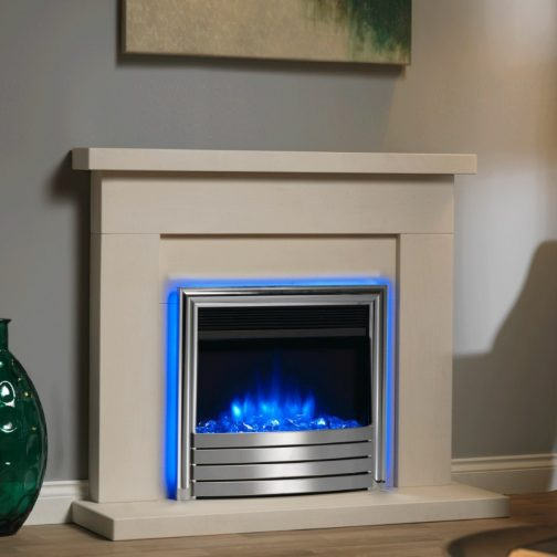 """Infinity 4D Ecoflame 22"""" Inset Electric Fire With All Chrome Fascia"""