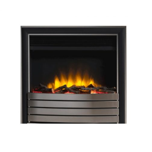 """Infinity 4D Ecoflame 22"""" Inset Electric Fire With Chrome/Black Fascia"""