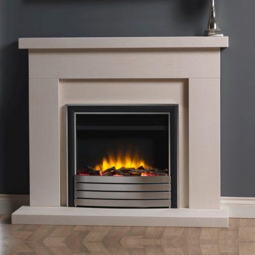 22 electric fire with chrome black elite facia2 1200x1200 1