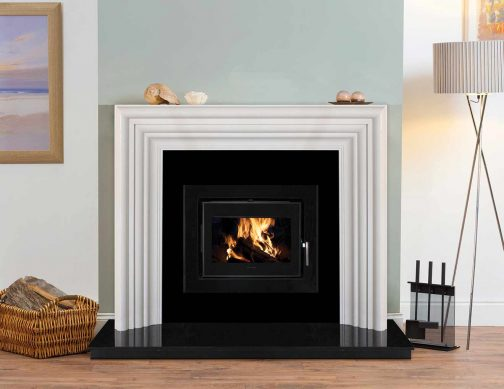 5kW Landscape Cassette Stove in Heritage Fireplace